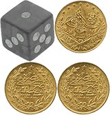 Игральная кость и три монеты