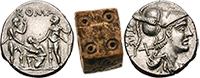 Игральная кость и две монеты