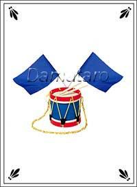 Екатерининское гадание Барабан с флагами