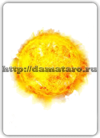 Изображение карты Солнце.