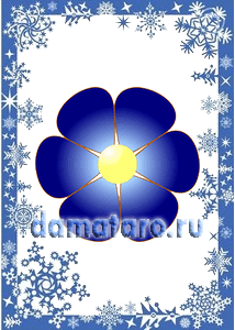 Карточка Цветок