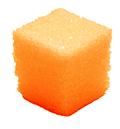 Оранжевый кусочек сахара