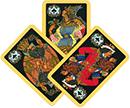 Три игральных карты.