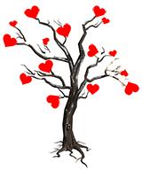 Игральные карты - Дерево влюбленных.