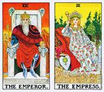 Таро карты Император и Императрица