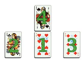 Предсказание на игральных картах - Пирамида влюбленных
